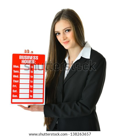 Business Hours - stock photo