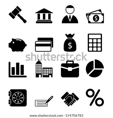 Business Icons Set - stock photo