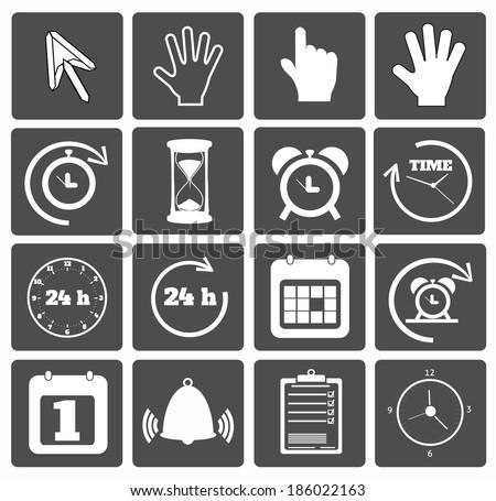 Business icons set. Raster version - stock photo