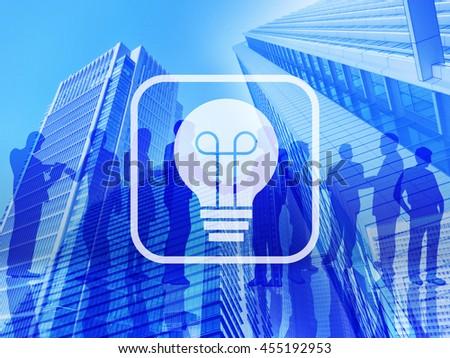 business idea blue - stock photo