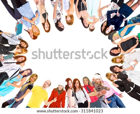 Business Idea People Formation  - stock photo