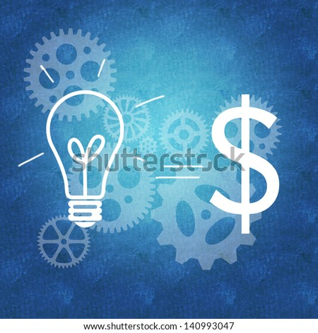 Business ideas and innovation leading to success - stock photo