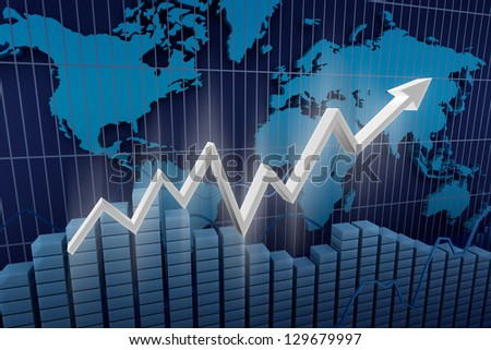 Business. Income diagram background. - stock photo