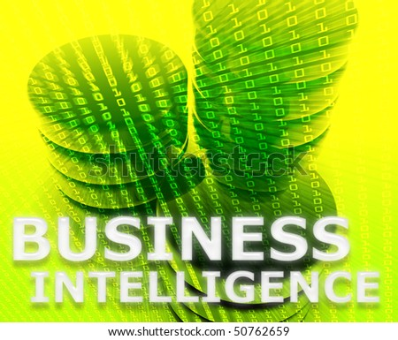 Business intelligence abstract, computer data information concept illustration - stock photo