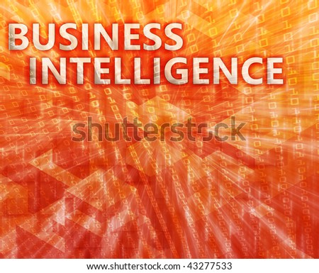 Business intelligence abstract, computer technology concept illustration - stock photo