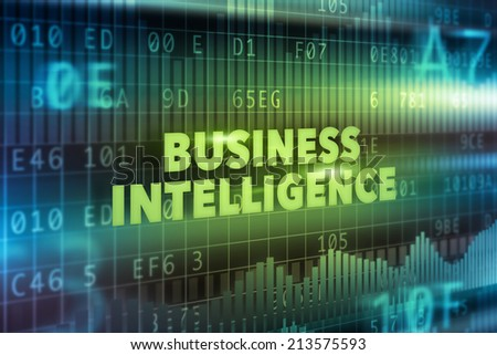 Business intelligence technology illustration concept - stock photo