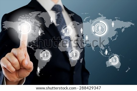 Business, interior, woman. - stock photo