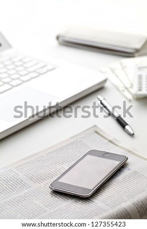 Business items - stock photo