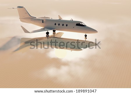 Business jet - stock photo