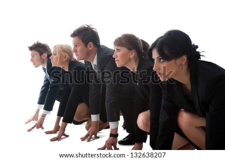 Business life a very big competition. - stock photo