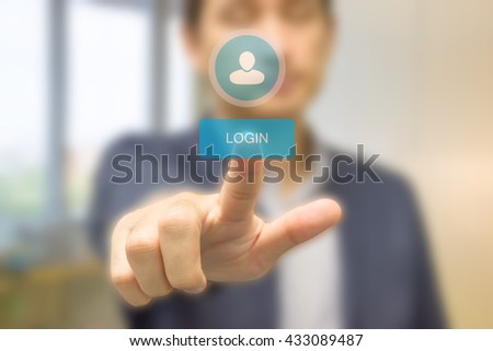 Business Man Account LogIn Security Protection Concept - stock photo