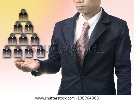 business man and people organization for business theme - stock photo