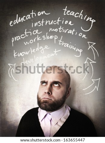 business man and training concept - stock photo