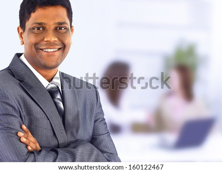 Business man. Drawing up a plan in the office - stock photo