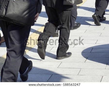 Business man going to work - stock photo