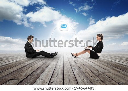 business man growing up money - stock photo
