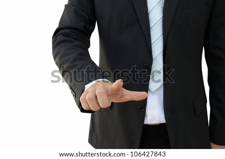 Business Man Hand Pointing - stock photo