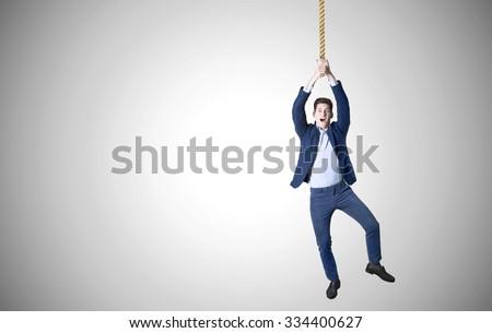 business man hanged - stock photo