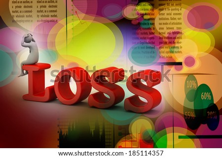 Business man in loss - stock photo