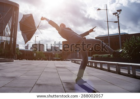Business Man in the City - stock photo