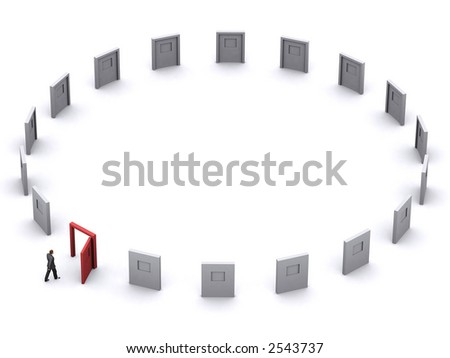 business man is making a decision for his business - stock photo