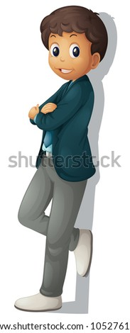 Business man on a white background - stock photo