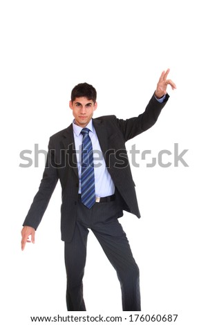 Business man over whitebackground - stock photo