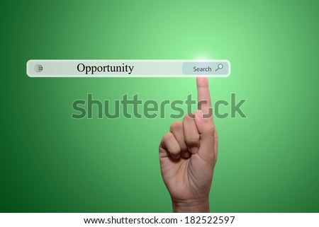 business man pointing opportunity concept  - stock photo