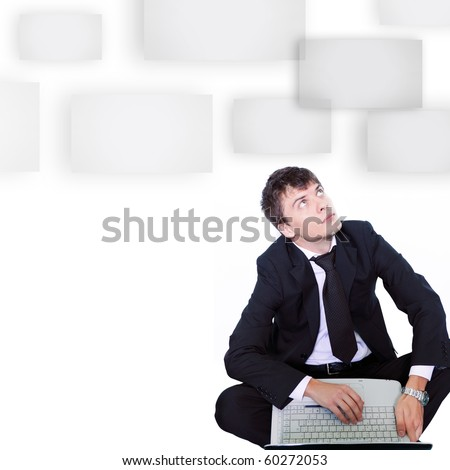 business man searching ideas - stock photo