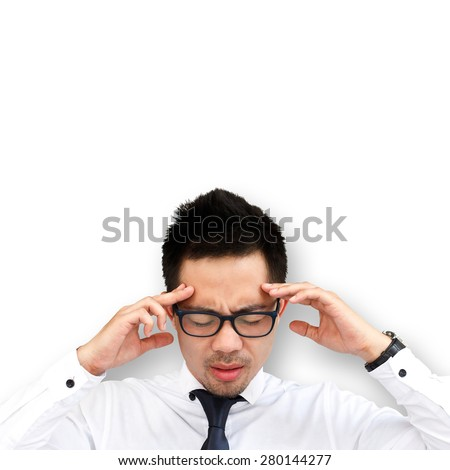 Business man thinking - stock photo