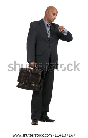 business man waiting - stock photo