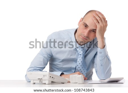 business man with problems - stock photo