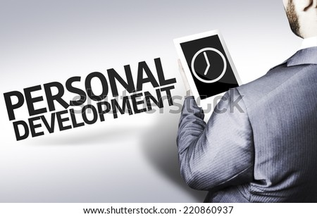 Business man with the text Personal Development in a concept image - stock photo