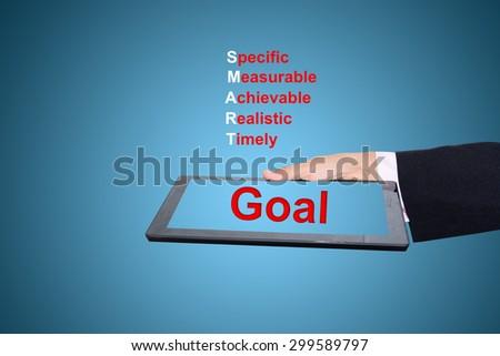 business man writing Goal concept - stock photo