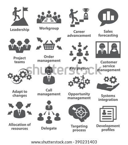 Business management icons. Pack 02. - stock photo