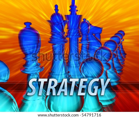 Business management leadership planning strategy abstract concept illustration - stock photo