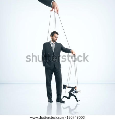 Business marionettes - stock photo