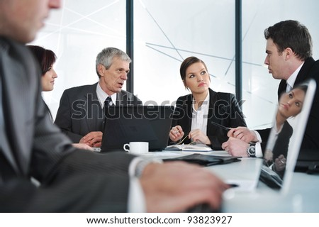 Business meeting and working people - stock photo