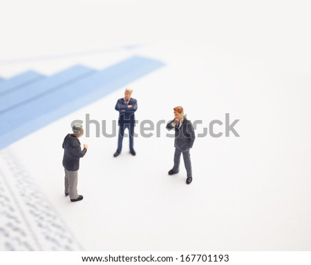 Business meeting. Figures of businessman - stock photo