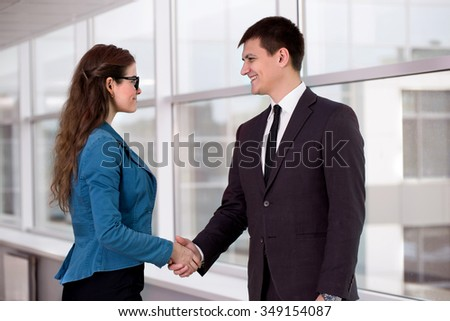 Business meeting in an office meeting - stock photo