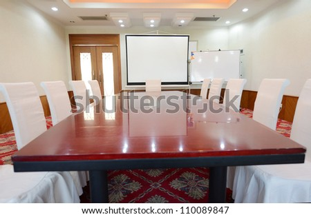 Business meeting room in office. - stock photo