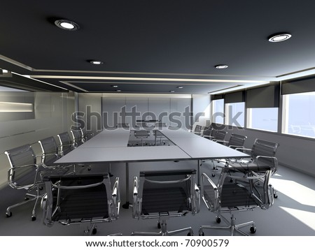 Business meeting room in office with modern decoration. - stock photo