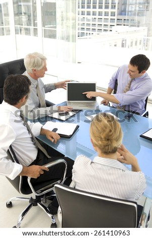 Business meeting with ceo - stock photo