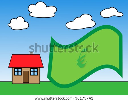 business metaphor of estate investment - stock photo