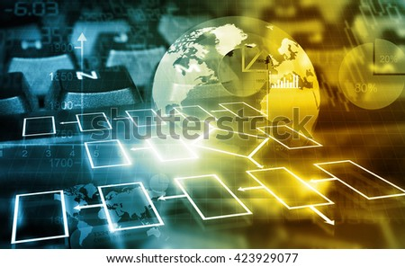 Business networking background 	 - stock photo