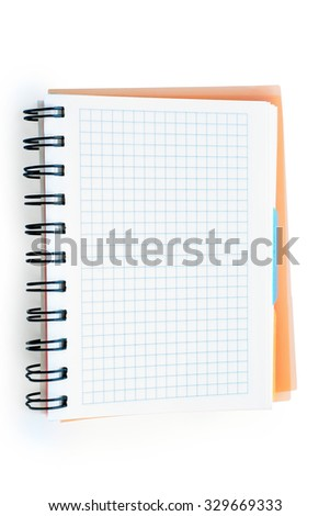 Business notebook organizer isolated on white with clipping path - stock photo