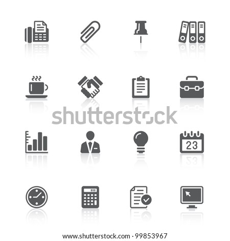 business office icons - stock photo