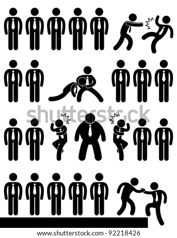 Business Office Workplace Employee Politic Situation Scenario Concept - stock photo