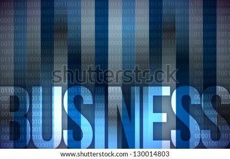 business on digital screen, business concept, illustration design - stock photo