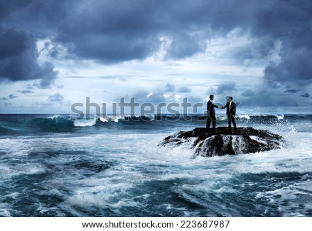 Business opportunity in crisis.  - stock photo